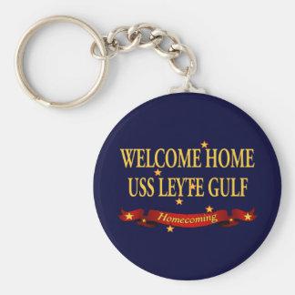 Welcome Home USS Leyte Gulf Keychain