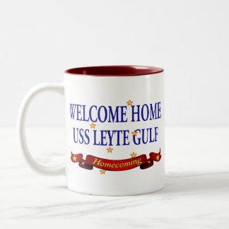 Welcome Home USS Leyte Gulf Two-Tone Coffee Mug
