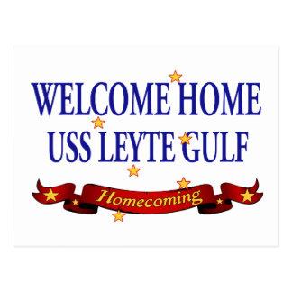 Welcome Home USS Leyte Gulf Postcard