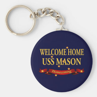 Welcome Home USS Mason Keychain