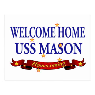 Welcome Home USS Mason Postcard