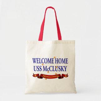 Welcome Home USS McClusky Tote Bag
