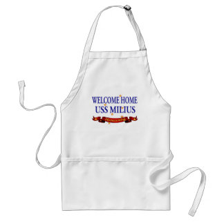 Welcome Home USS Milius Adult Apron
