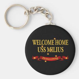 Welcome Home USS Milius Keychain