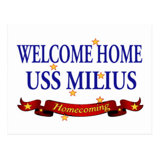 Welcome Home USS Milius Postcard