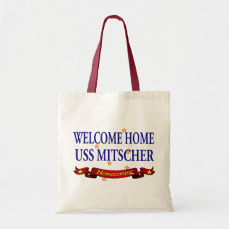 Welcome Home USS Mitscher Tote Bag