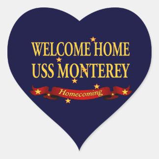 Welcome Home USS Monterey Heart Sticker
