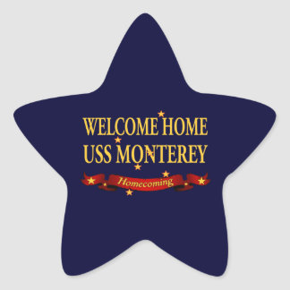 Welcome Home USS Monterey Star Stickers