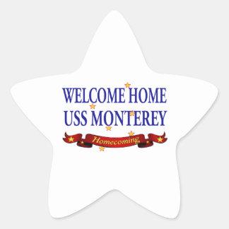 Welcome Home USS Monterey Star Sticker