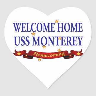 Welcome Home USS Monterey Stickers