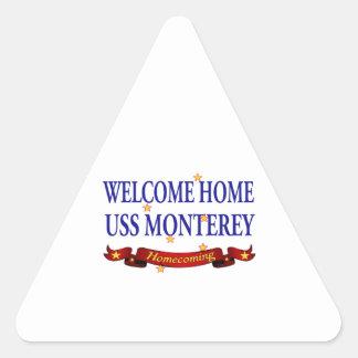 Welcome Home USS Monterey Sticker
