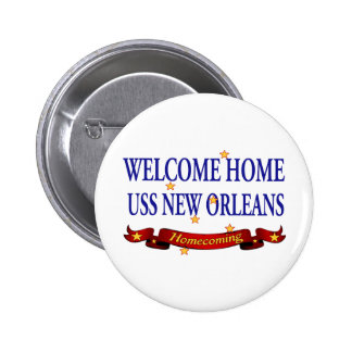 Welcome Home USS New Orleans Pinback Button