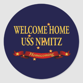 Welcome Home USS Nimitz Classic Round Sticker