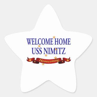 Welcome Home USS Nimitz Star Sticker