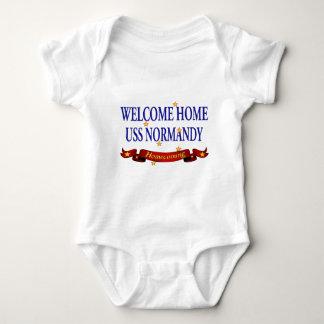 Welcome Home USS Normandy Baby Bodysuit