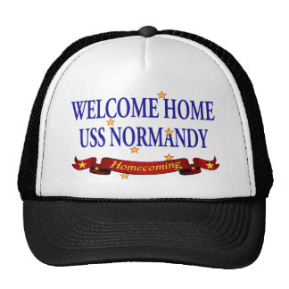 Welcome Home USS Normandy Trucker Hat
