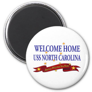 Welcome Home USS North Carolina 2 Inch Round Magnet