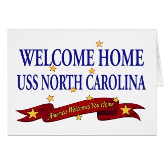 Welcome Home USS North Carolina Card