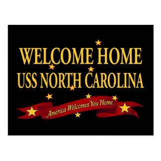 Welcome Home USS North Carolina Postcard