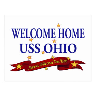 Welcome Home USS Ohio Postcard