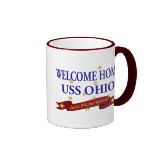 Welcome Home USS Ohio Ringer Mug