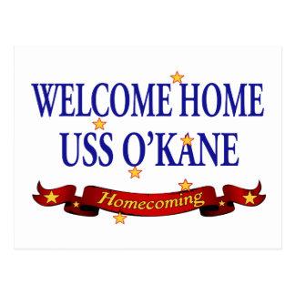 Welcome Home USS O'Kane Postcard