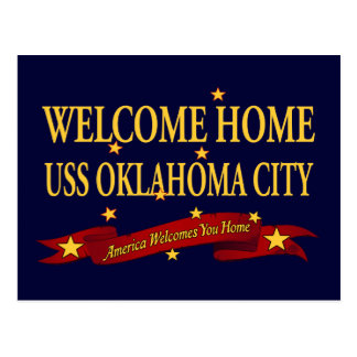 Welcome Home USS Oklahoma City Postcard
