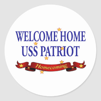Welcome Home USS Patriot Classic Round Sticker