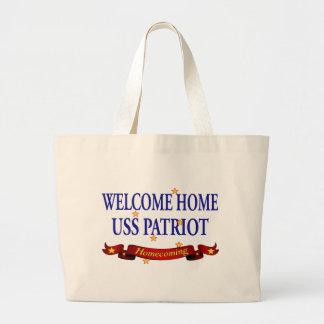 Welcome Home USS Patriot Large Tote Bag