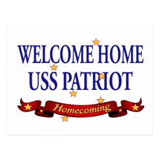 Welcome Home USS Patriot Postcard