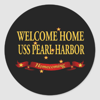 Welcome Home USS Pearl Harbor Round Stickers