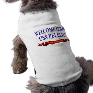 Welcome Home USS Peleliu Dog Tee Shirt