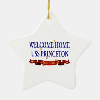 Welcome Home USS Princeton Ceramic Ornament