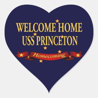 Welcome Home USS Princeton Heart Sticker