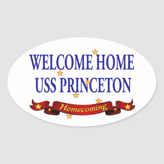 Welcome Home USS Princeton Oval Stickers
