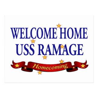 Welcome Home USS Ramage Postcard