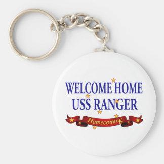 Welcome Home USS Ranger Basic Round Button Keychain