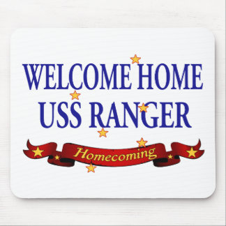 Welcome Home USS Ranger Mouse Pad