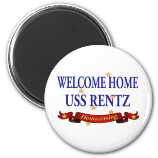 Welcome Home USS Rentz 2 Inch Round Magnet