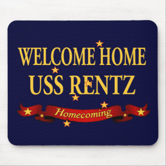Welcome Home USS Rentz Mouse Pad