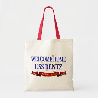 Welcome Home USS Rentz Tote Bag