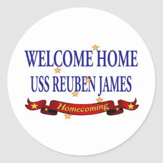 Welcome Home USS Reuben James Classic Round Sticker