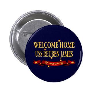 Welcome Home USS Reuben James Pinback Button