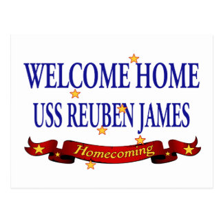 Welcome Home USS Reuben James Postcard