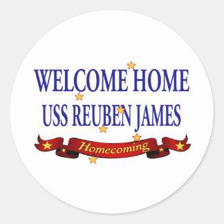 Welcome Home USS Reuben James Classic Round Sticker