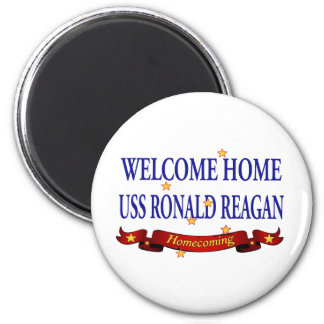 Welcome Home USS Ronald Reagan 2 Inch Round Magnet