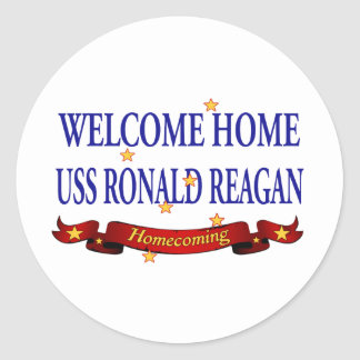 Welcome Home USS Ronald Reagan Classic Round Sticker