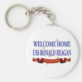Welcome Home USS Ronald Reagan Keychain