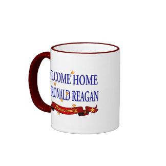 Welcome Home USS Ronald Reagan Ringer Mug