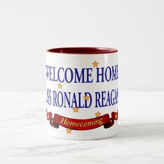 Welcome Home USS Ronald Reagan Two-Tone Coffee Mug